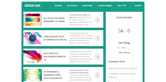 green-sea-personal-blogger-template